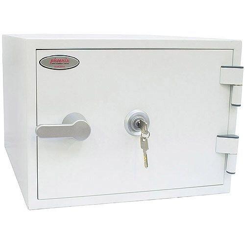Phoenix Titan FS1281K Size 1 Fire &Security Safe with Key Lock White 19L 60mins Fire Protection