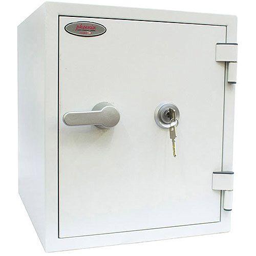 Phoenix Titan FS1282K Size 2 Fire &Security Safe with Key Lock White 25L 60mins Fire Protection