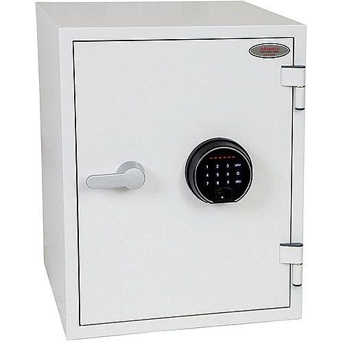 Phoenix Titan FS1283F Size 3 Fire &Security Safe with Fingerprint Lock White 36L 60min Fire Protection