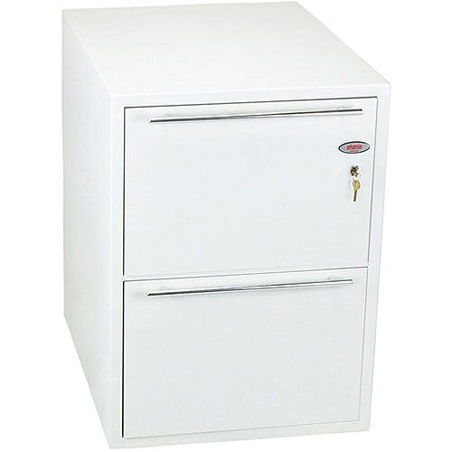 Phoenix Archivo Fire File FS2232K 2 Drawer Filing Cabinet with Key Lock White