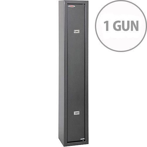 Phoenix Lacerta GS8001K 1 Gun Safe with 2 Key Locks Metalic Graphite