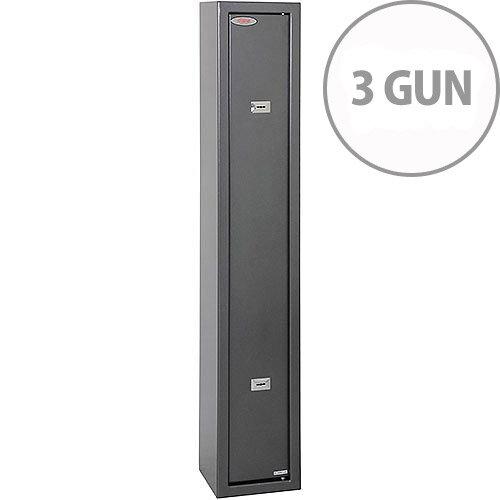 Phoenix Lacerta GS8001K 3 Gun Safe with 2 Key Locks Metalic Graphite