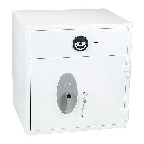 Phoenix Diamond Deposit HS1091ED Size 1 High Security Euro Grade 1 Deposit Safe with Electronic Lock White