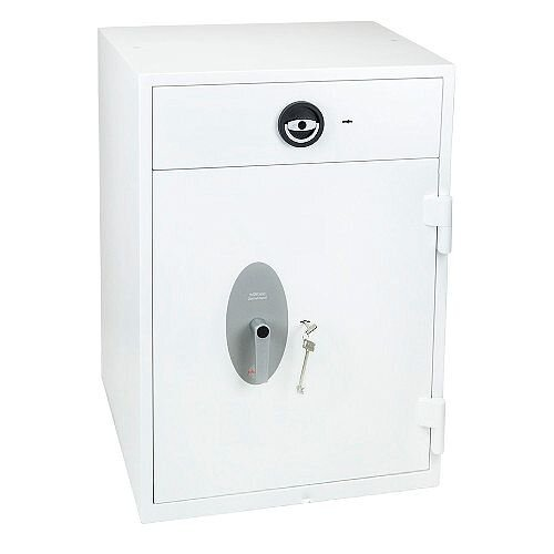 Phoenix Diamond Deposit HS1092ED Size 2 High Security Euro Grade 1 Deposit Safe with Electronic Lock White 149L