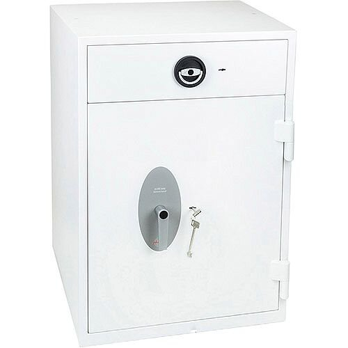 Phoenix Diamond Deposit HS1092KD Size 2 High Security Euro Grade 1 Deposit Safe with Key Lock White 149L