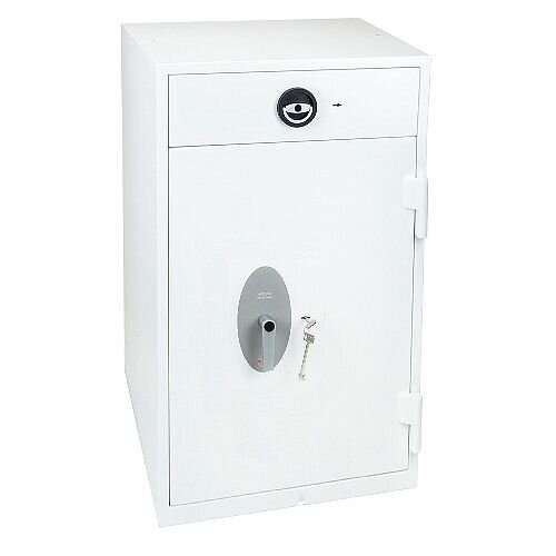 Phoenix Diamond Deposit HS1093ED Size 3 High Security Euro Grade 1 Deposit Safe with Electronic Lock White 199L