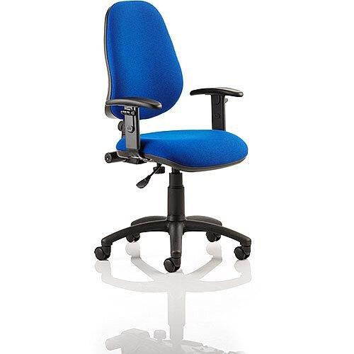 Eclipse I Lever Task Operator Office Chair Blue With Height Adjustable Arms, Weight Capacity: 150kg, Usage: 8 hours a day, Height Adjustment
