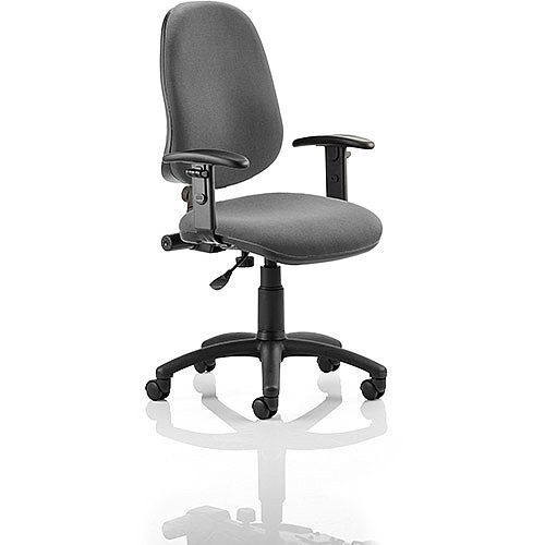 Eclipse I Lever Task Operator Office Chair Charcoal With Height Adjustable Arms