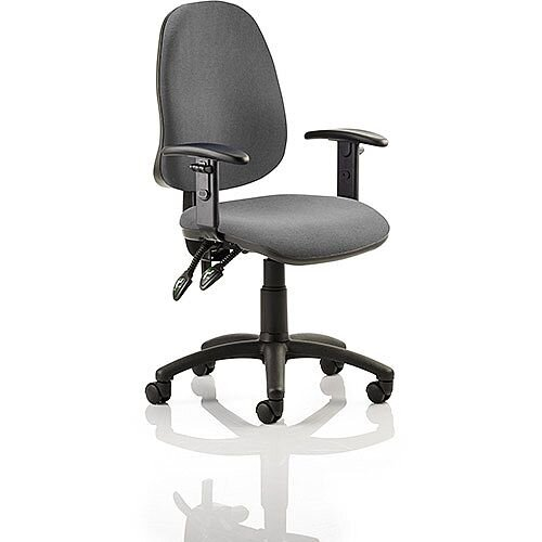 Eclipse II Lever Task Operator Office Chair Charcoal With Height Adjustable Arms