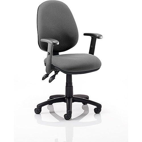 Luna II Lever Task Operator Office Chair Charcoal With Height Adjustable Arms