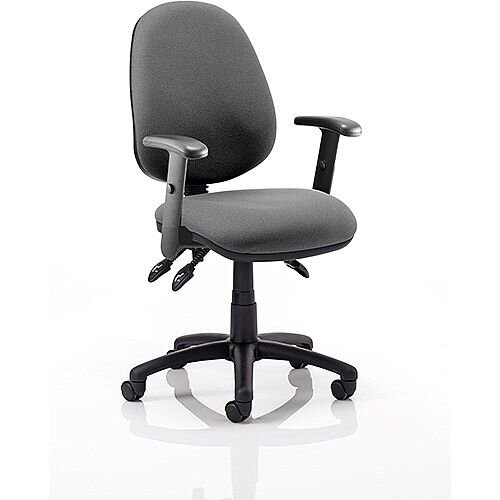 Luna III Lever Task Operator Office Chair Charcoal With Height Adjustable Arms