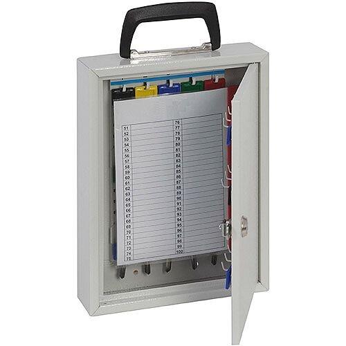 Phoenix Keysure KC0201K 20 Hook Portable Key Cabinet with Key Lock Light Grey