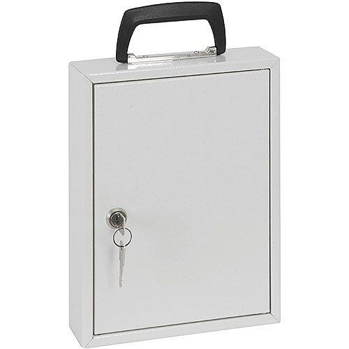 Phoenix Keysure KC0202K 30 Hook Portable Key Cabinet with Key Lock Light Grey