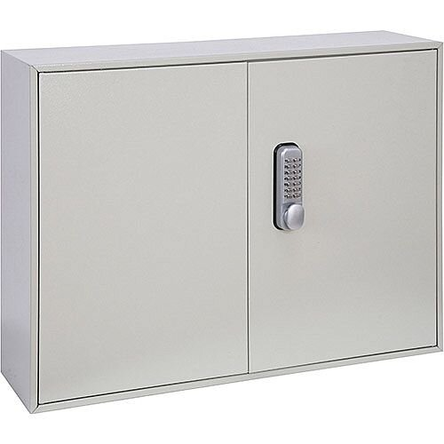 Phoenix Keysure KC0303M 200 Hook Deep Key Cabinet with Mechanical Combination Lock Light Grey