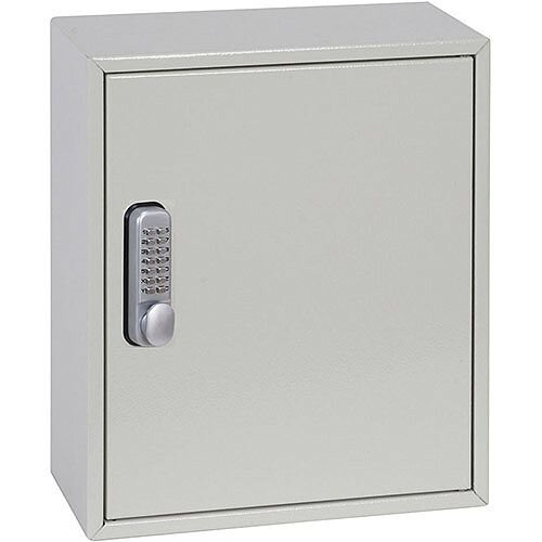 Phoenix Keysure KC0501M 24 Hook Deep Plus Key Cabinet with Mechanical Combination Lock Light Grey