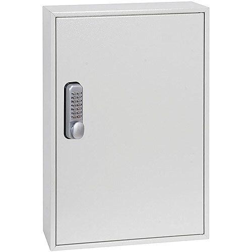 Phoenix Keysure KC0502M 50 Hook Deep Plus Key Cabinet with Mechanical Combination Lock Light Grey