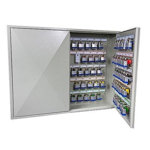 Phoenix Keysure KC0503E 100 Hook Deep Plus Key Cabinet with Electronic Code Lock Light Grey