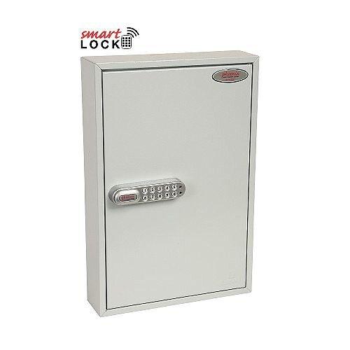 Phoenix Commercial Key Cabinet KC0601N 42 Hook with Net Code Electronic Lock. Light Grey