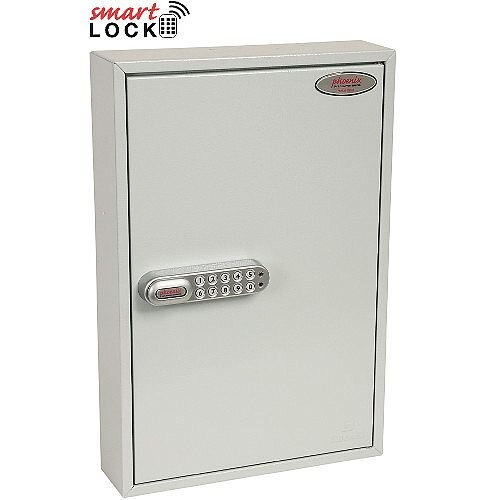 Phoenix Commercial Key Cabinet KC0602E 64 Hook with Electronic Lock. Light Grey