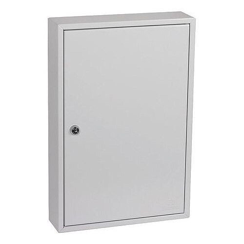 Phoenix Commercial Key Cabinet KC0602K 64 Hook with Key Lock. Light Grey