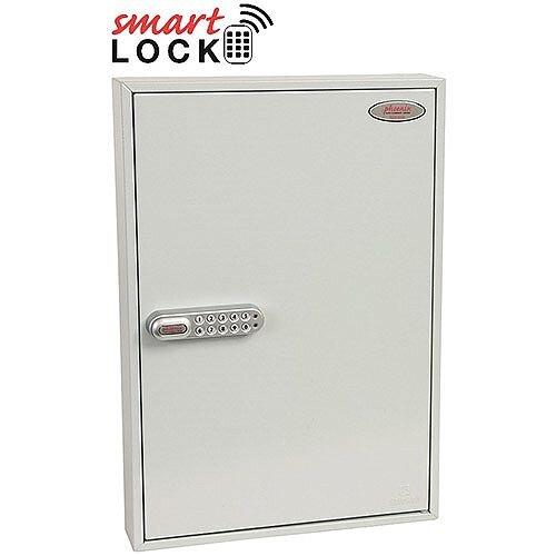 Phoenix Commercial Key Cabinet KC0603N 100 Hook with Net Code Electronic Lock. Light Grey