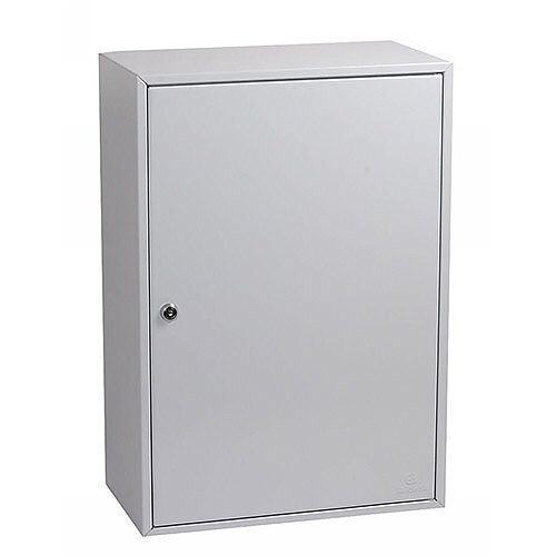 Phoenix Commercial Key Cabinet KC0604K 200 Hook with Key Lock. Light Grey