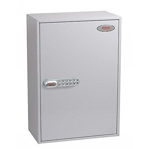 Phoenix Commercial Key Cabinet KC0605E 300 Hook with Electronic Lock. Light Grey