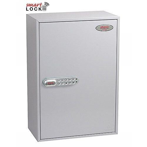 Phoenix Commercial Key Cabinet KC0605N 300 Hook with Net Code Electronic Lock. Light Grey