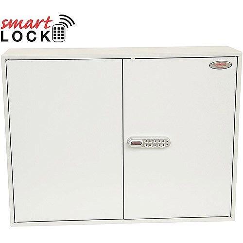 Phoenix Commercial Key Cabinet KC0607N 600 Hook with Net Code Electronic Lock. Light Grey