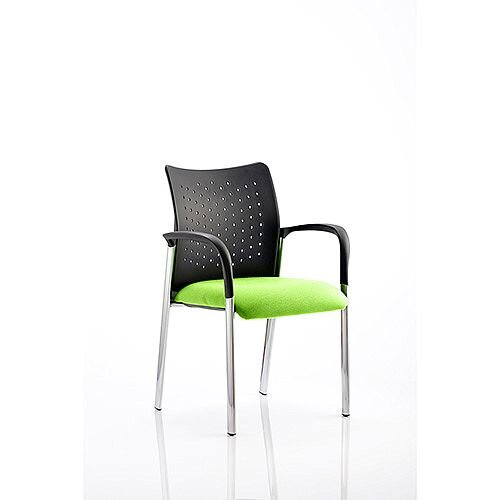 Academy Boardroom &Visitor Chair With Arms Swizzle Green