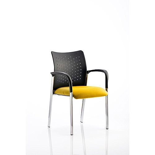 Academy Boardroom &Visitor Chair With Arms Sunset Yellow