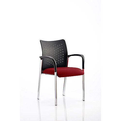 Academy Boardroom &Visitor Chair With Arms Chilli Red