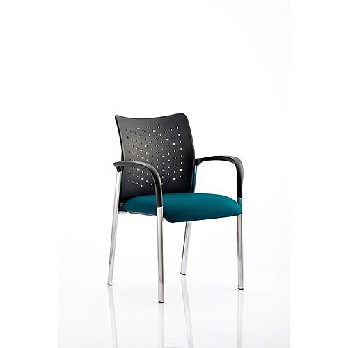 Academy Boardroom &Visitor Chair With Arms Kingfisher Green