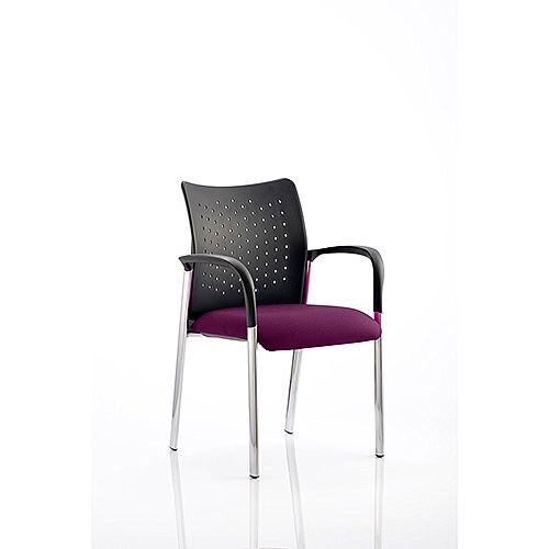 Academy Boardroom &Visitor Chair With Arms Purple