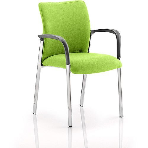 Academy Boardroom &Visitor Chair With Arms Fabric Back &Seat Swizzle Green