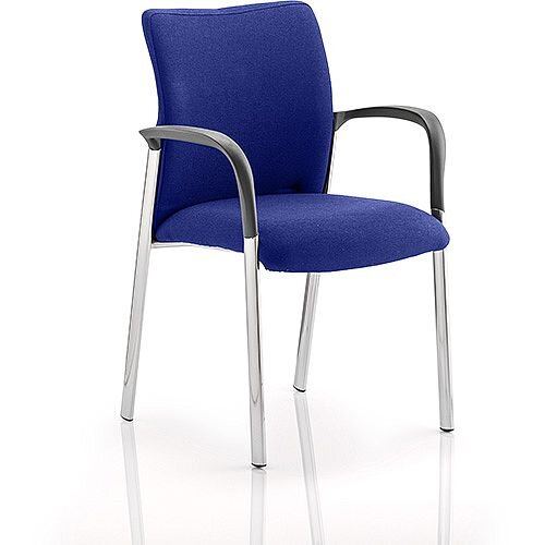 Academy Boardroom &Visitor Chair With Arms Fabric Back &Seat Serene Blue