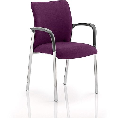 Academy Boardroom &Visitor Chair With Arms Fabric Back &Seat Purple