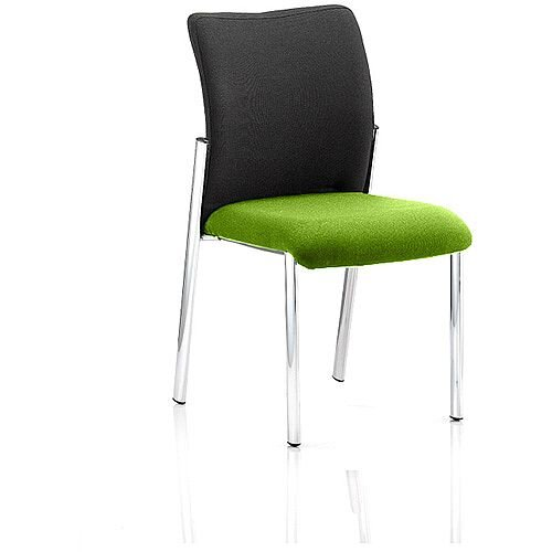Academy Boardroom &Visitor Chair Black Fabric Back Swizzle Green Seat
