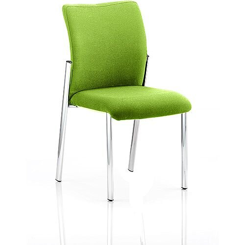 Academy Boardroom &Visitor Chair Fabric Back &Seat Swizzle Green