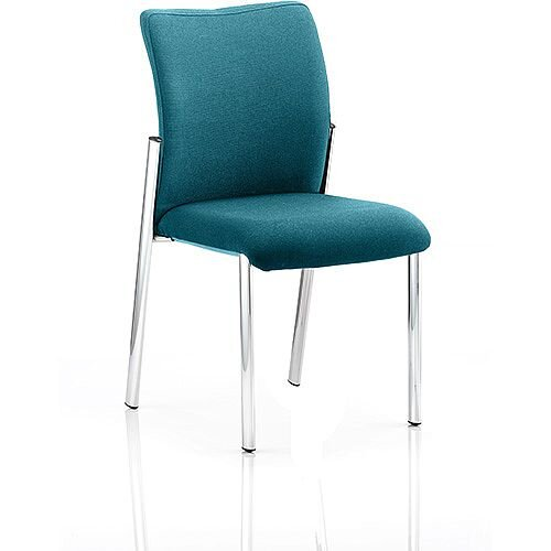 Academy Boardroom &Visitor Chair Fabric Back &Seat Kingfisher Green