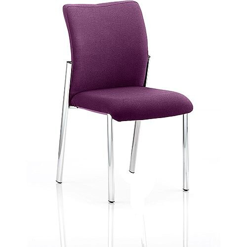 Academy Boardroom &Visitor Chair Fabric Back &Seat Purple