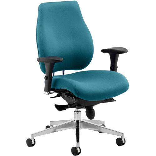 Chiro Plus High Back Ergonomic Posture Office Chair Kingfisher Green
