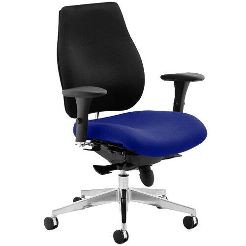 Chiro Plus High Back Ergonomic Posture Office Chair Black Back &Serene Blue Seat