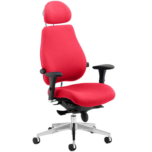 Chiro Plus Ultimate High Back Ergonomic Posture Office Chair With Headrest Cherry Red