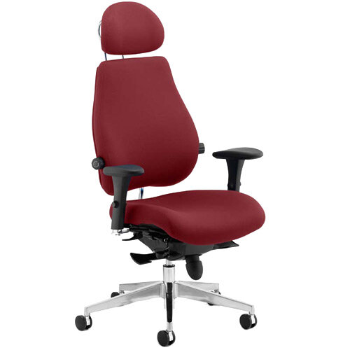 Chiro Plus Ultimate High Back Ergonomic Posture Office Chair With Headrest Chilli Red