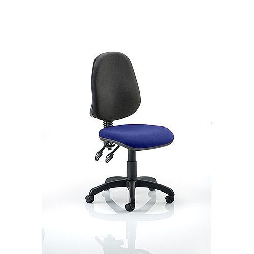 Eclipse II Lever Task Operator Office Chair Serene Blue Seat