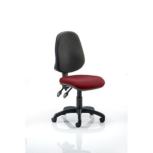 Eclipse II Lever Task Operator Office Chair Chilli Red Seat