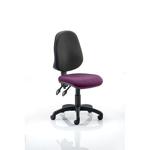 Eclipse II Lever Task Operator Office Chair Purple Seat