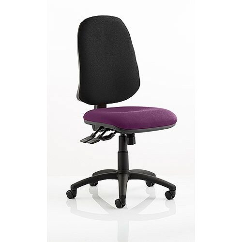 Eclipse XL III Lever Task Operator Office Chair Purple Seat