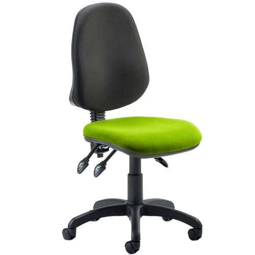 Eclipse III Lever Task Operator Office Chair Swizzle Green Seat